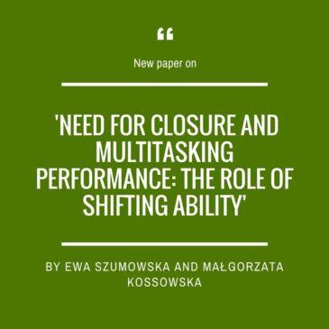 A new paper by Ewa Szumowska and Małgorzata Kossowska
