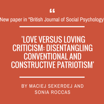 Maciej Sekerdej and Sonia Roccas on patriotism