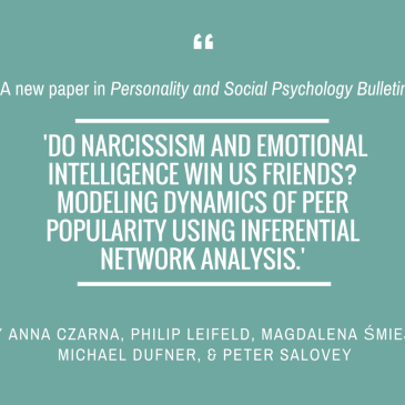 Anna Czarna, Magdalena Śmieja & team in 'Personality and Social Psychology Bulletin'
