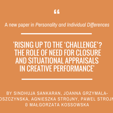 'Personality and Individual Differences' with Sindhuja Sankaran and the team!