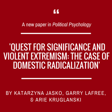 Katarzyna Jaśko and collaborants on radicalization