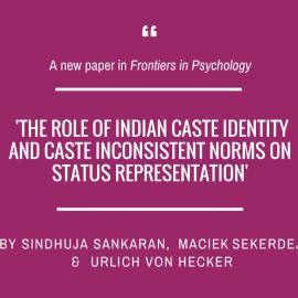 Sindhuja Sankaran, Maciek Sekerdej and Ulrich von Hecker in 'Frontiers in Psychology'