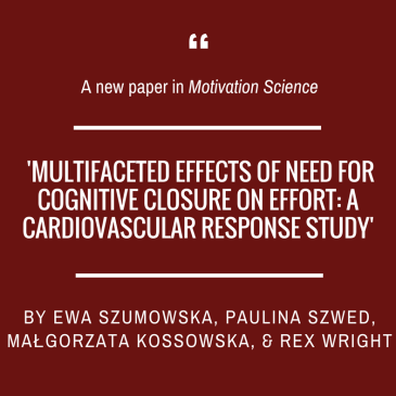 New paper in Motivation Science!