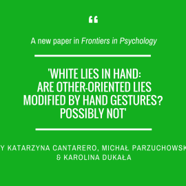 Another paper in 'Frontiers in Psychology'!
