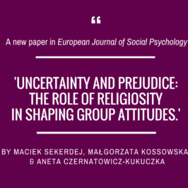 A new article in the European Journal of Social Psychology!