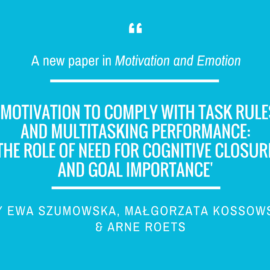 New paper of our colleagues in Motivation and Emotion