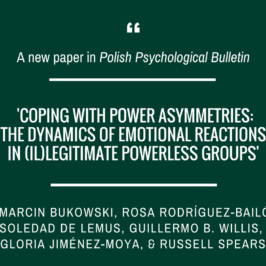 Marcin Bukowski and colleagues on emotion regulation in powerless groups