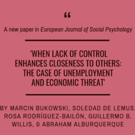 Marcin Bukowski and team on control and outgroup attitudes for EJSP!