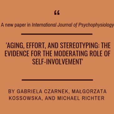 New paper by Gabriela Czarnek, Małgorzata Kossowska and Michael Richter!