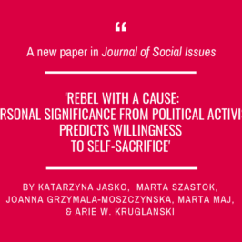 Our colleagues on the activists motivation for the Journal of Social Issues!