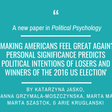 Our new paper in Political Psychology!