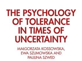 Coming soon: 'The Psychology of Tolerance in Times of Uncertainty' (in English)