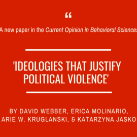 Just published: 'Ideologies that justify political violence'
