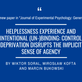 A new paper in Journal of Experimental Psychology: General!