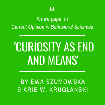 A new article by Ewa Szumowska and Arie W. Kruglanski!