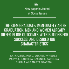 A new paper by Katarzyna Jaśko et al. in Journal of Social Issues!