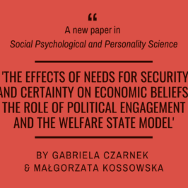 A new paper in Social Psychological and Personality Science!
