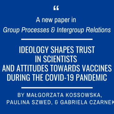 A new paper on ideology, trust in scientists, and vaccination