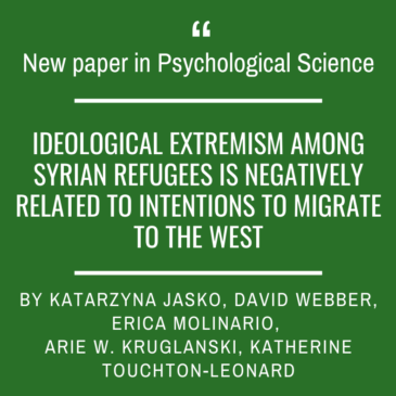 A new paper in Psychological Science by Katarzyna Jaśko and colleagues!